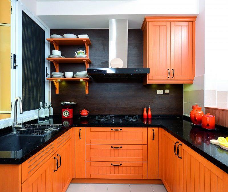 Gambar Pilihan Warna Dan Susunan Bijak Untuk Dapur Sempit 1 8k Ruang Kecil