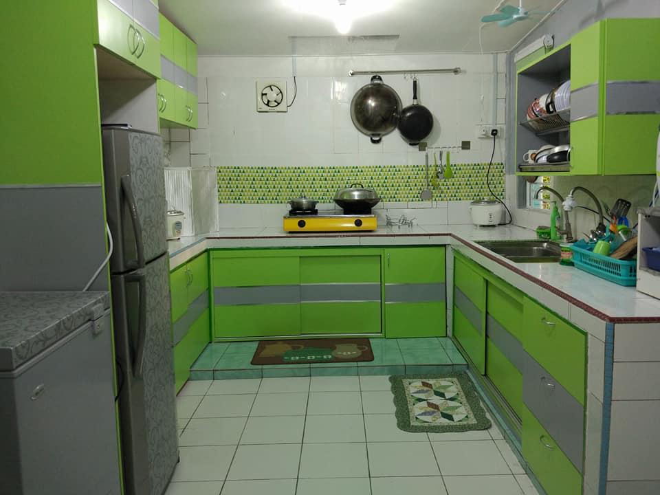 Nah Terhasilnya Transformasi Dapur Yang Nampak Kompung Tadi Menjadi Lebih Ceria