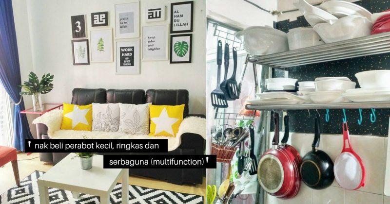 Gambar Hias Rumah Sewa Flat 805 Sqf Dengan Perabot Hotel Terpakai Hasilnya Memang